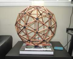 The Two-Frequency Icosahedron or 2V Geodesic Sphere