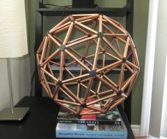 The Two-Frequency Icosahedron or 2V Geodesic Sphere 2-2